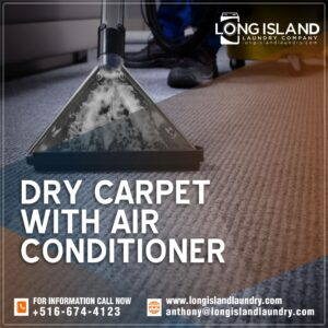 dry carpet with air conditioner