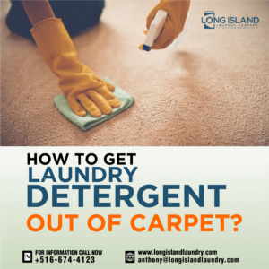 How to get Laundry detergent out of carpet